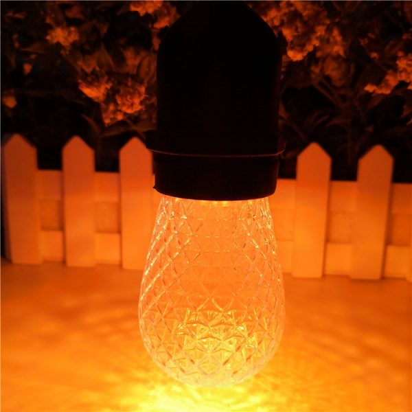S14 LED Bulb Faceted Amber