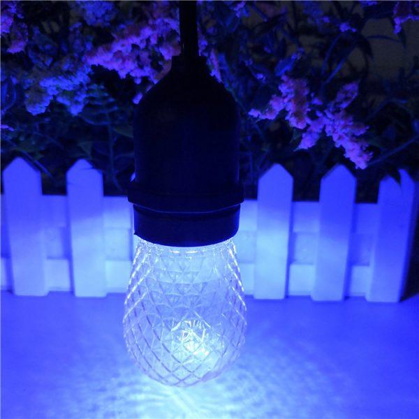 S14 LED Bulb Faceted blue