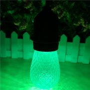 S14 LED Bulb Faceted Green