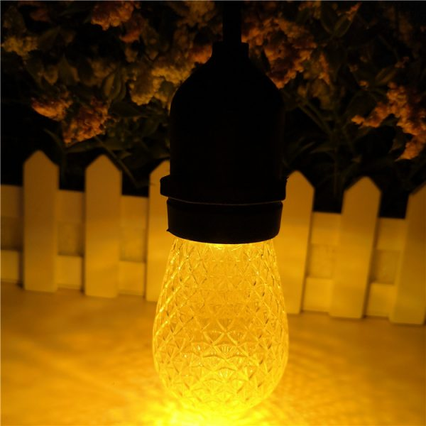 S14 LED Bulb Faceted gold